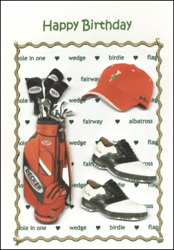 06 HB Golf Bag Shoes Hat